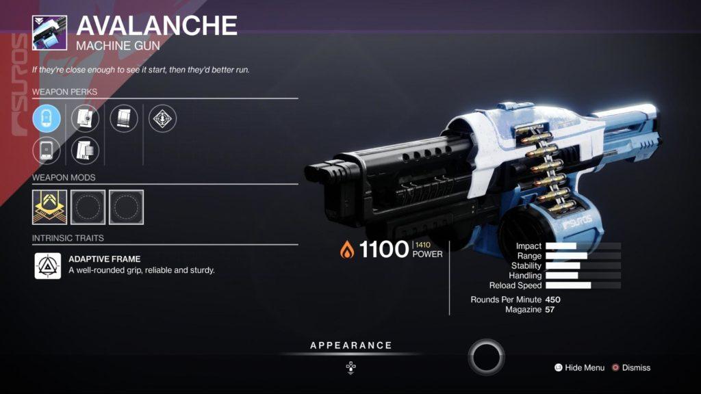 HGG Destiny 2 Avalanche