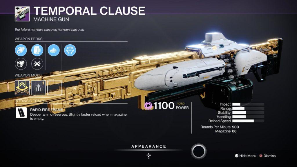 HGG Destiny 2 Temporal Clause