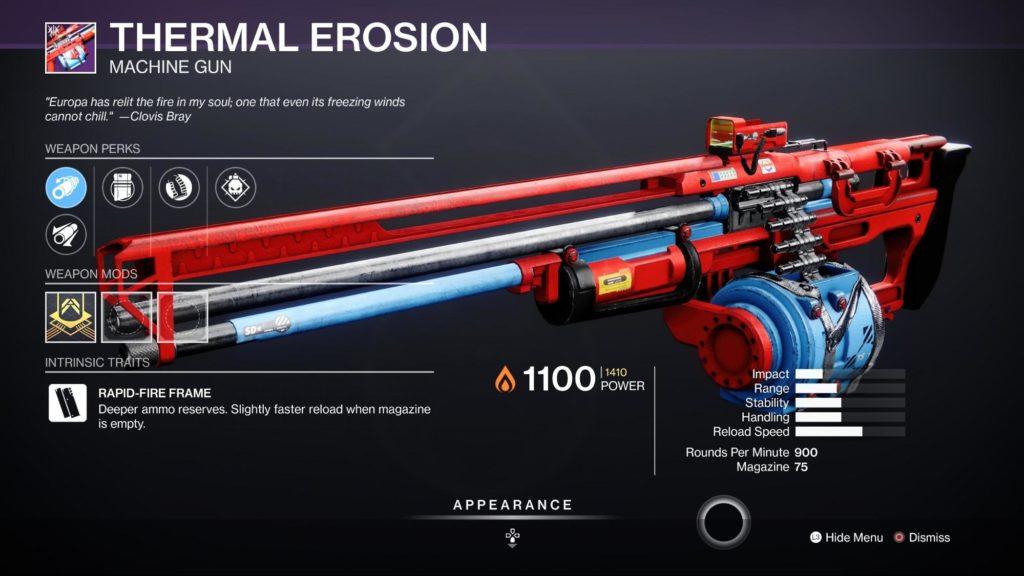 HGG Destiny 2 Thermal Erosion