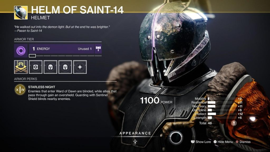 Helm of the Saint - War of Dawn Titan Build