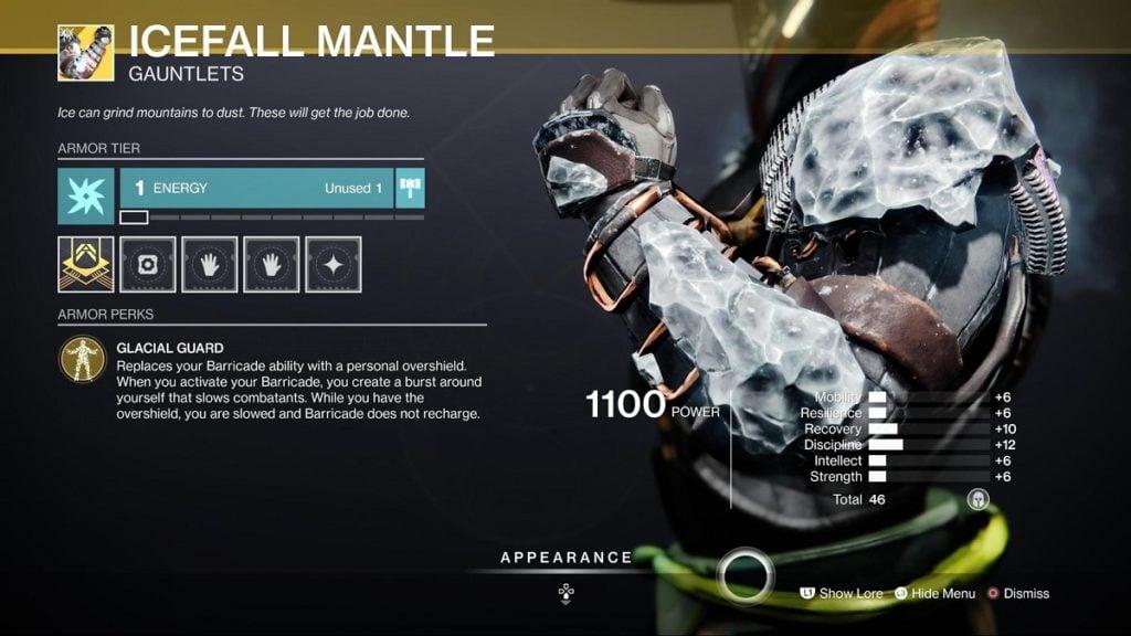 Icefall Mantle Titan Build