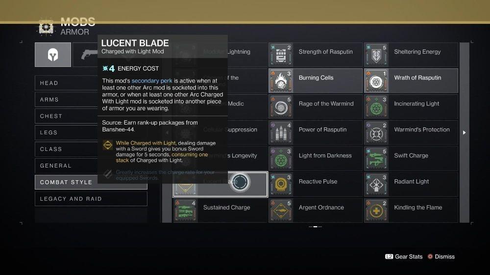 Lucent Blade Mod