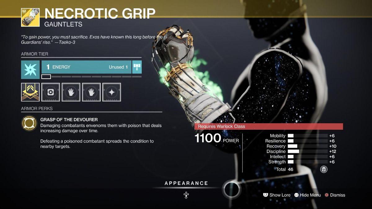 Necrotic Grip