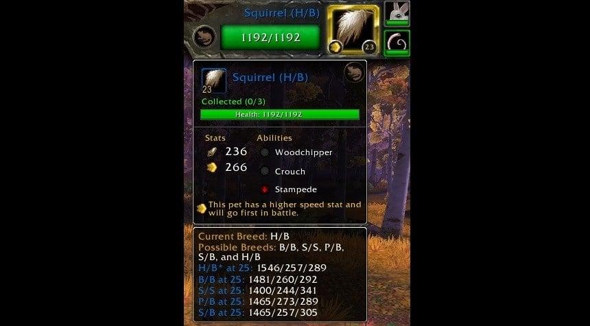 Battle Pet Breed ID
