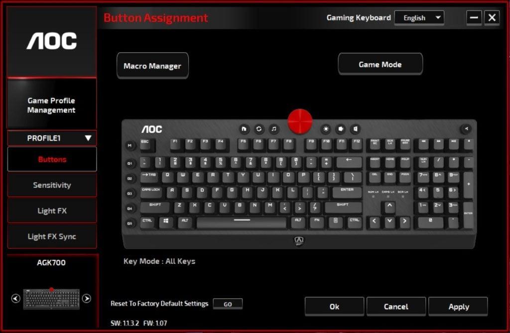 AOC AGK700 Keyboard 4