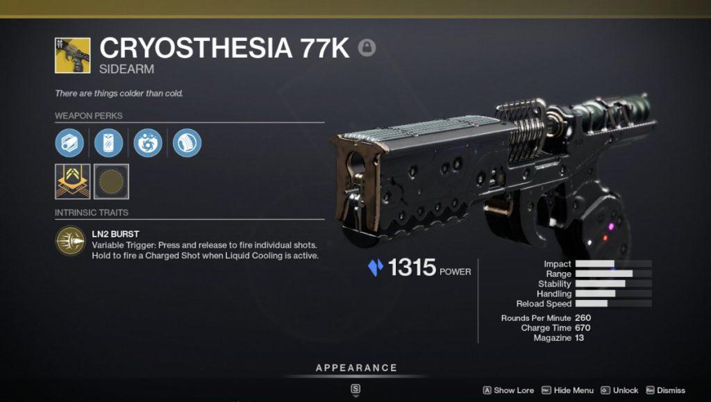 Cryosthesia 77K