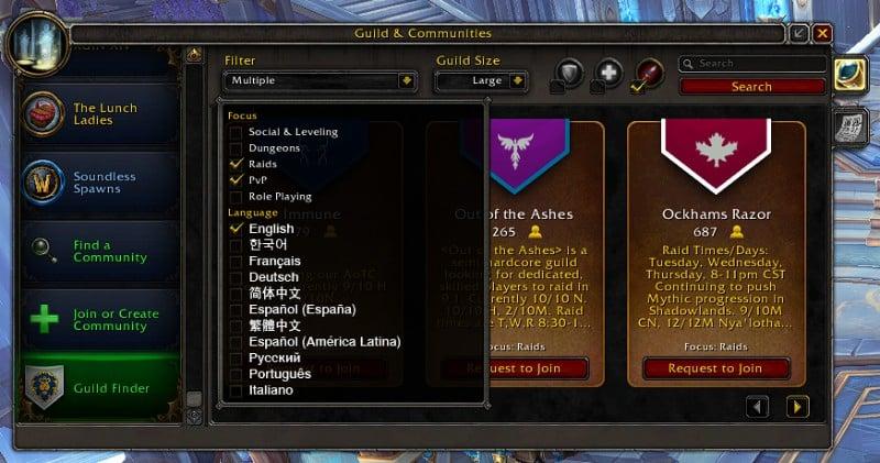 Guild Finder