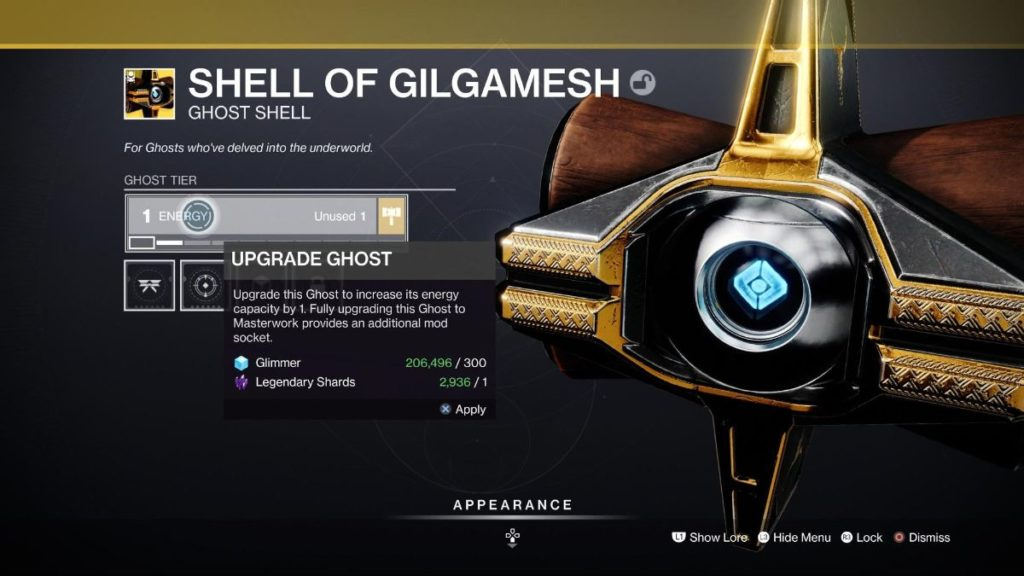 How to Upgrade Ghost Shells
