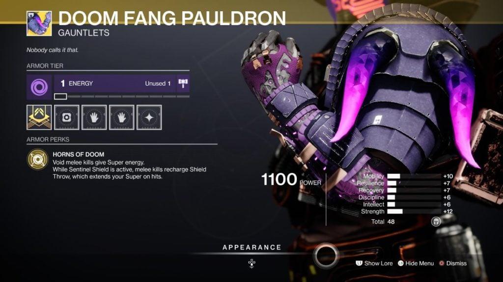 Doom Fang Pauldron