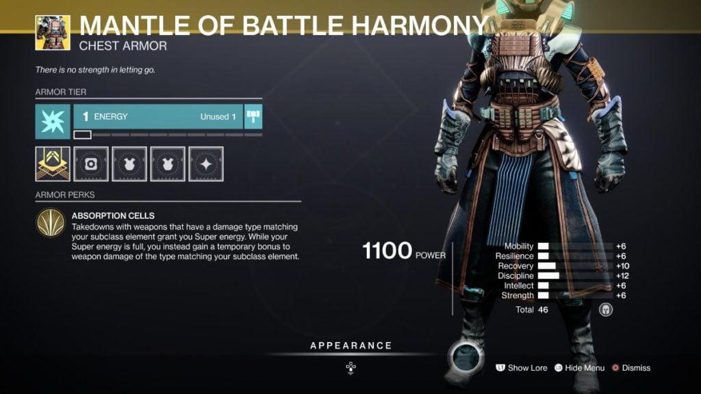 Mantle Of Battle Harmony