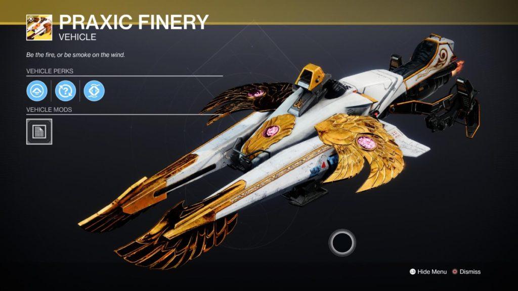 Praxic Finery - Best Sparrows Destiny 2