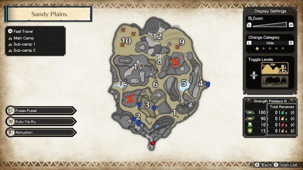 Sandy Plains Sub-Camp Map Locations