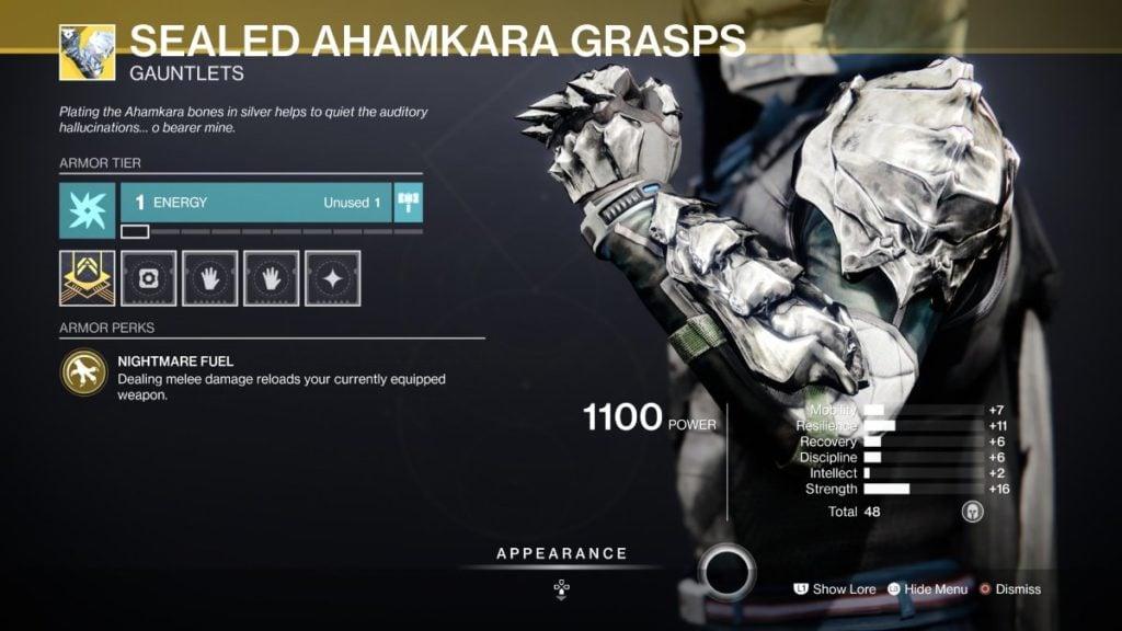 Sealed Ahamkara Grasps