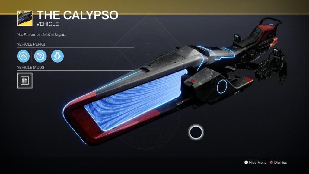 The Calypso - Best Sparrows Destiny 2
