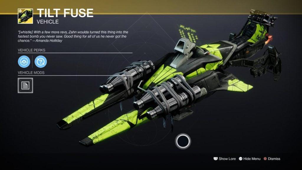 Tilt Fuse - Best Sparrows Destiny 2