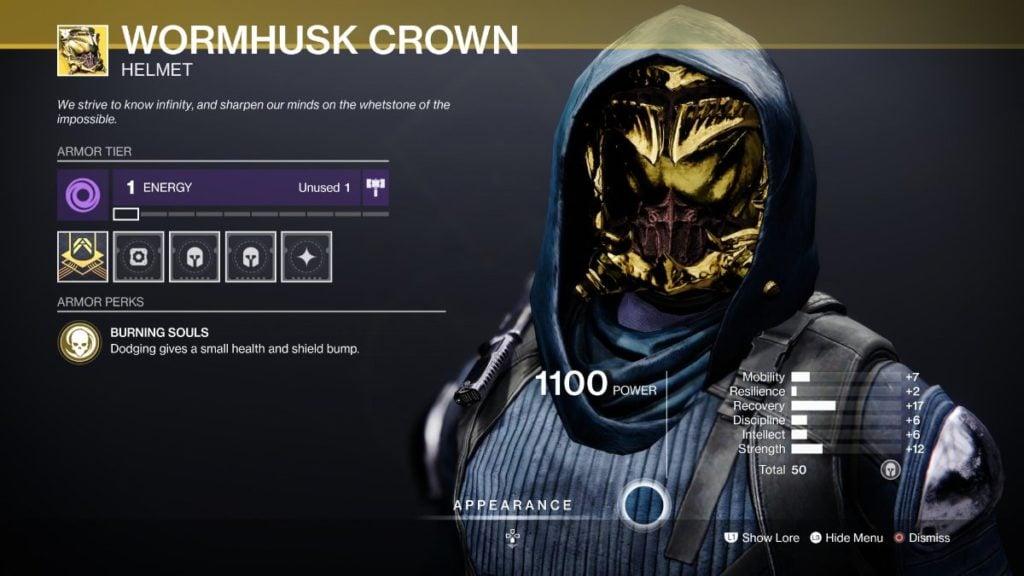 Wormhusk Crown