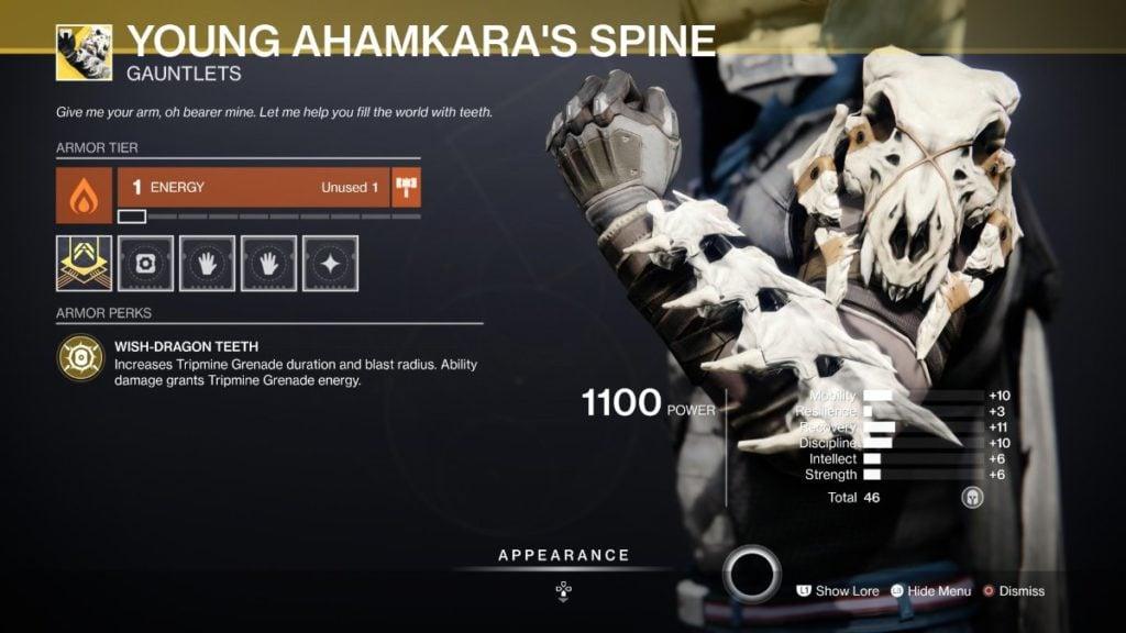 Young Ahamkara's Spine