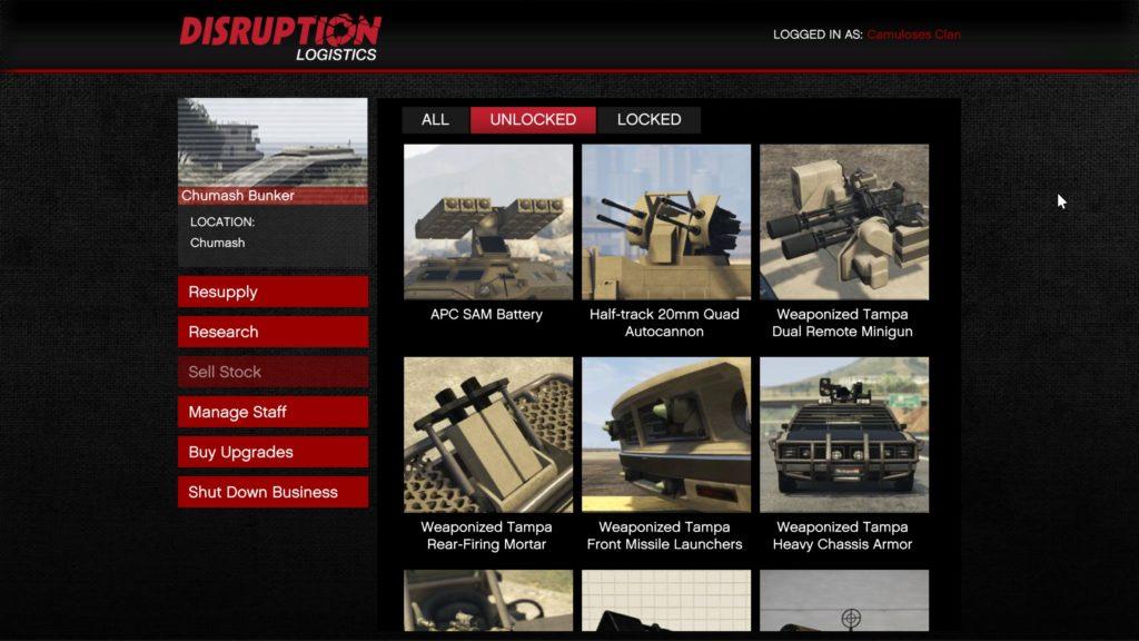 GTA Online Gunrunning DLC Research