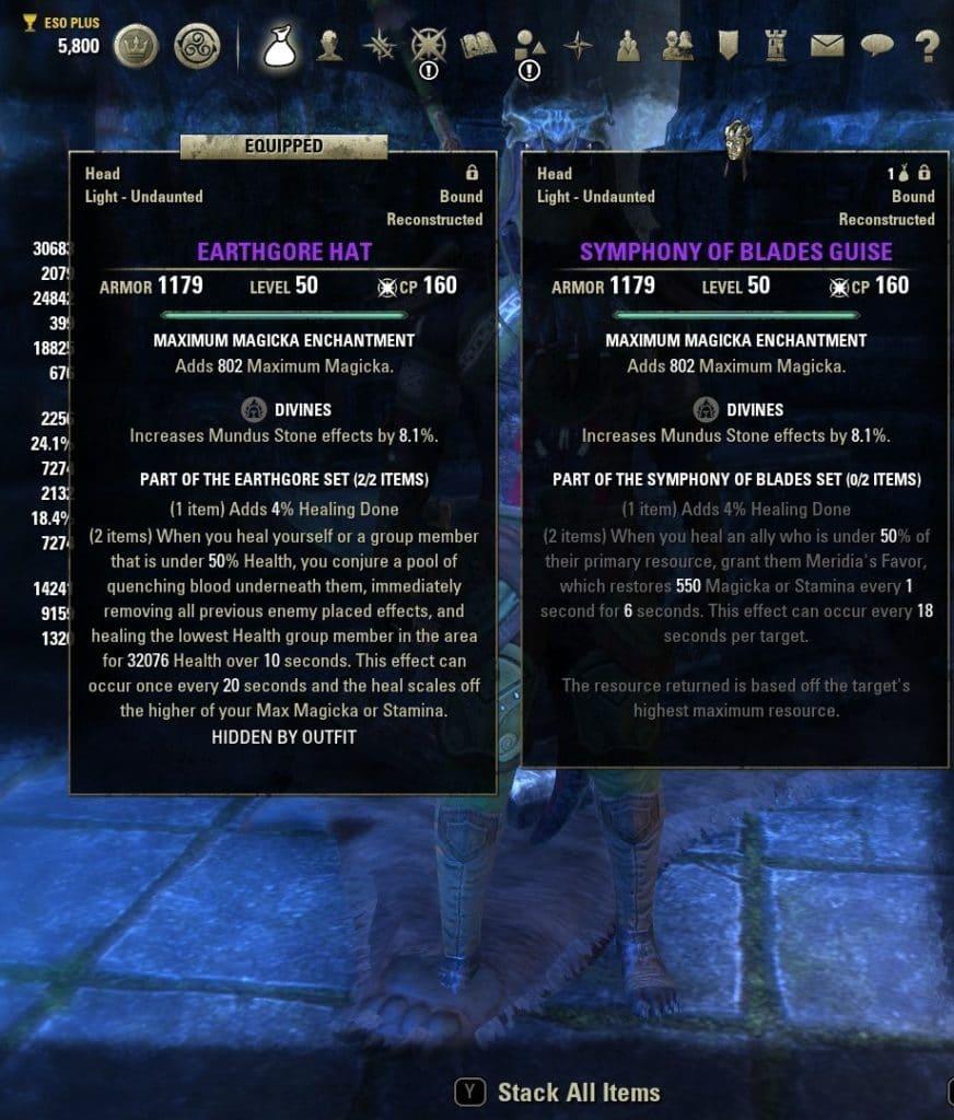 ESO Healer Best Armor Sets