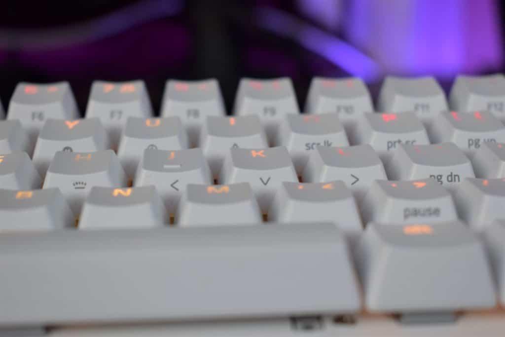 Razer Huntsman Mini Keyboard Review 3 closeup on keys