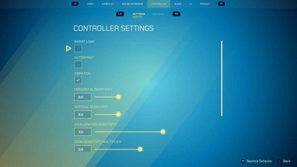 Splitgate Controller Settings 1