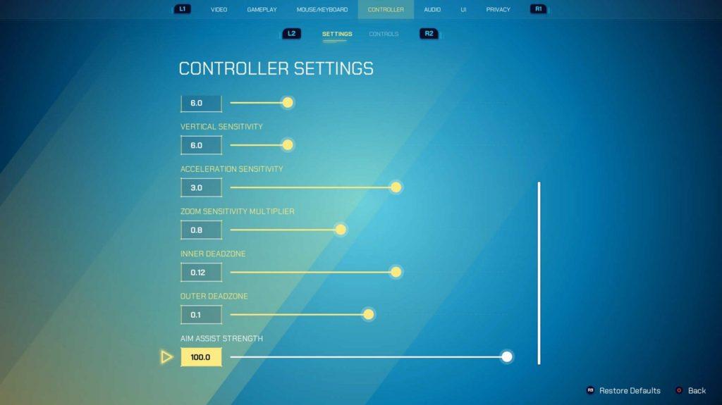 Splitgate Controller Settings 2