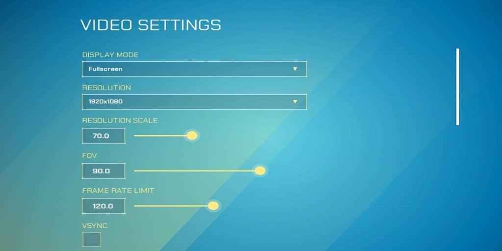 Splitgate Video Settings