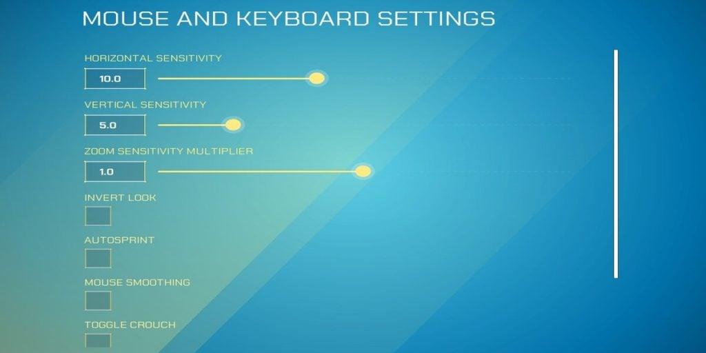 Splitgate Mouse & Keyboard Settings