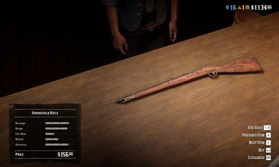 Red Dead Online Best Weapons