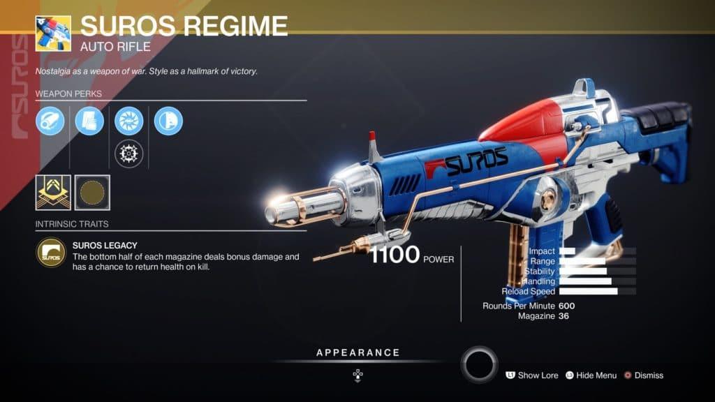 suros regime destiny_2